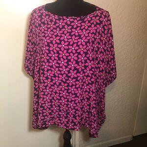 Diane von Furstenburg dolman Sleeve Blouse size M